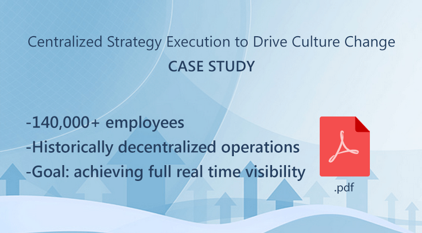 achieving centralized strategy execution -case study