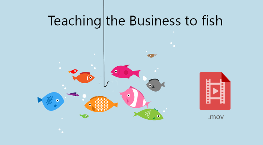 Teaching the business to fish