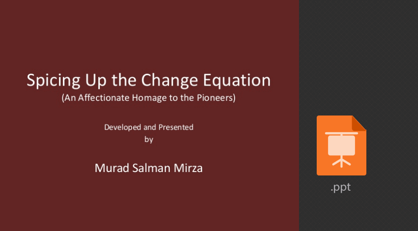 Spicing up the Change equation