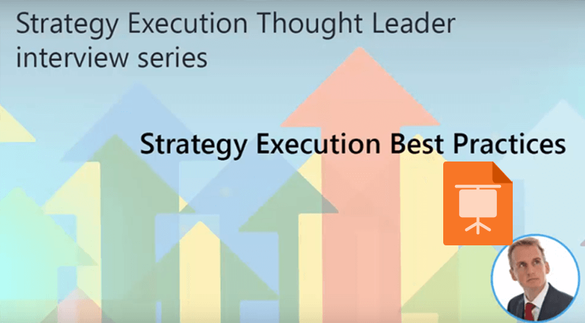 Strategy Execution thought leader interview series