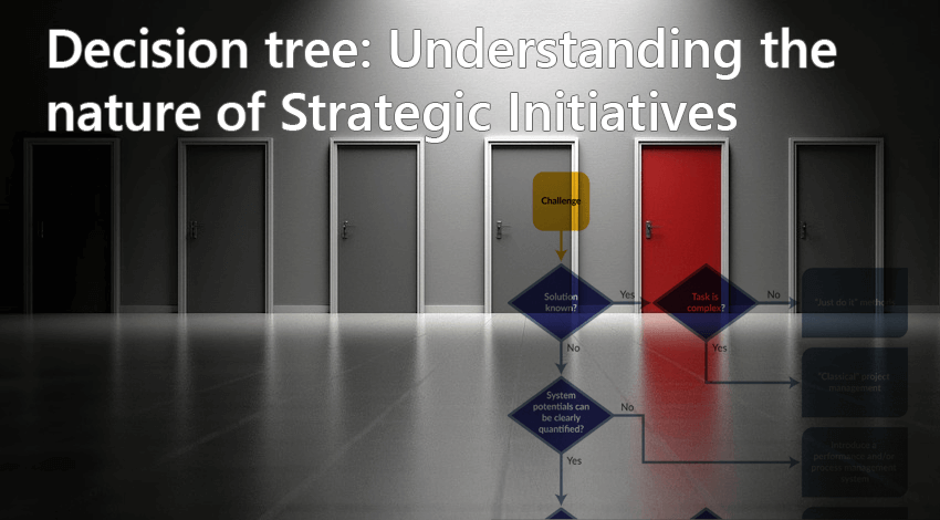 Decision tree - Understanding the nature of strategic initiatives