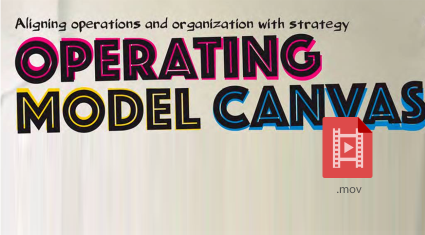 Operating Model Canvas - core tools for business architecture