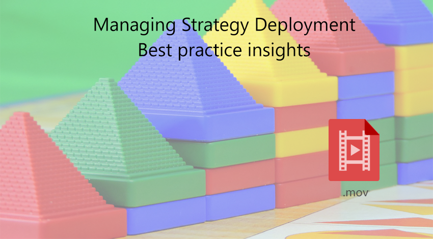 How to manage strategy deployment
