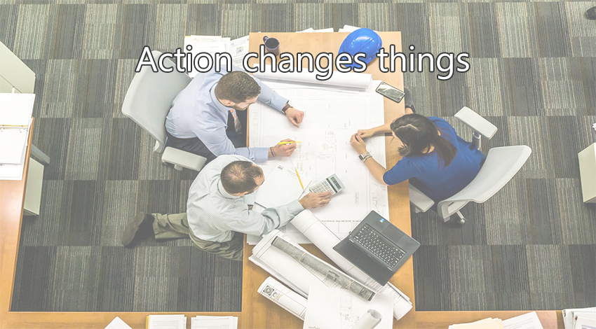de-emphasize kpis and emphasize action