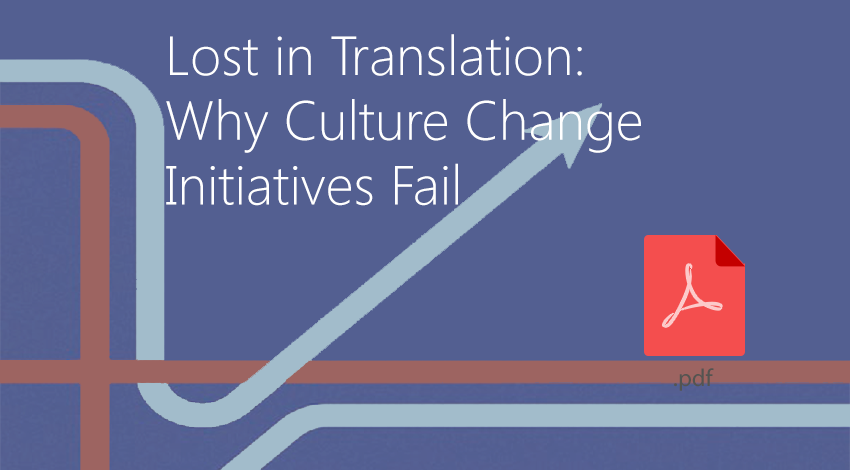 Why culture change initiatives change