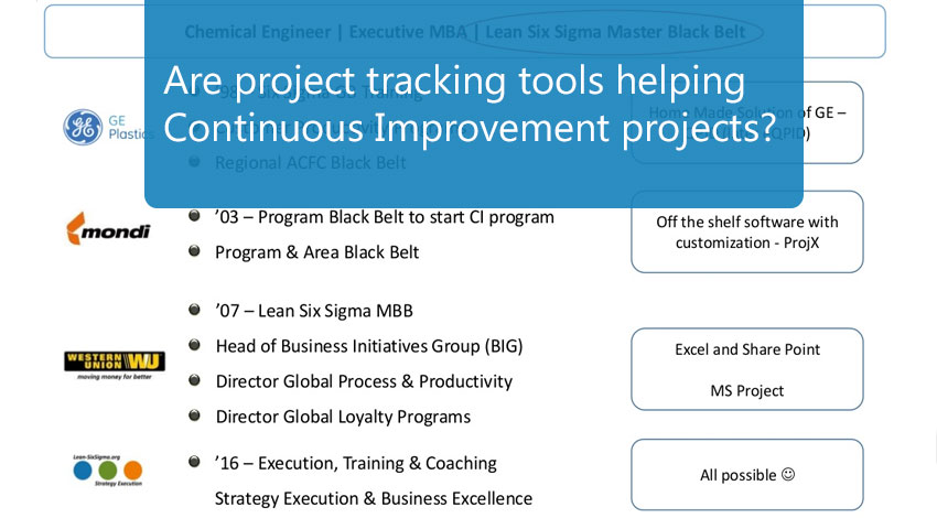 Are project tracking tool helping continuous improvement projects