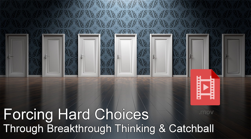 Forcing Hard choices through breakthrough thinking and catchball