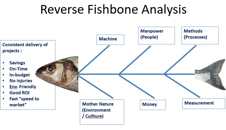 Reverse Fishbone diagram